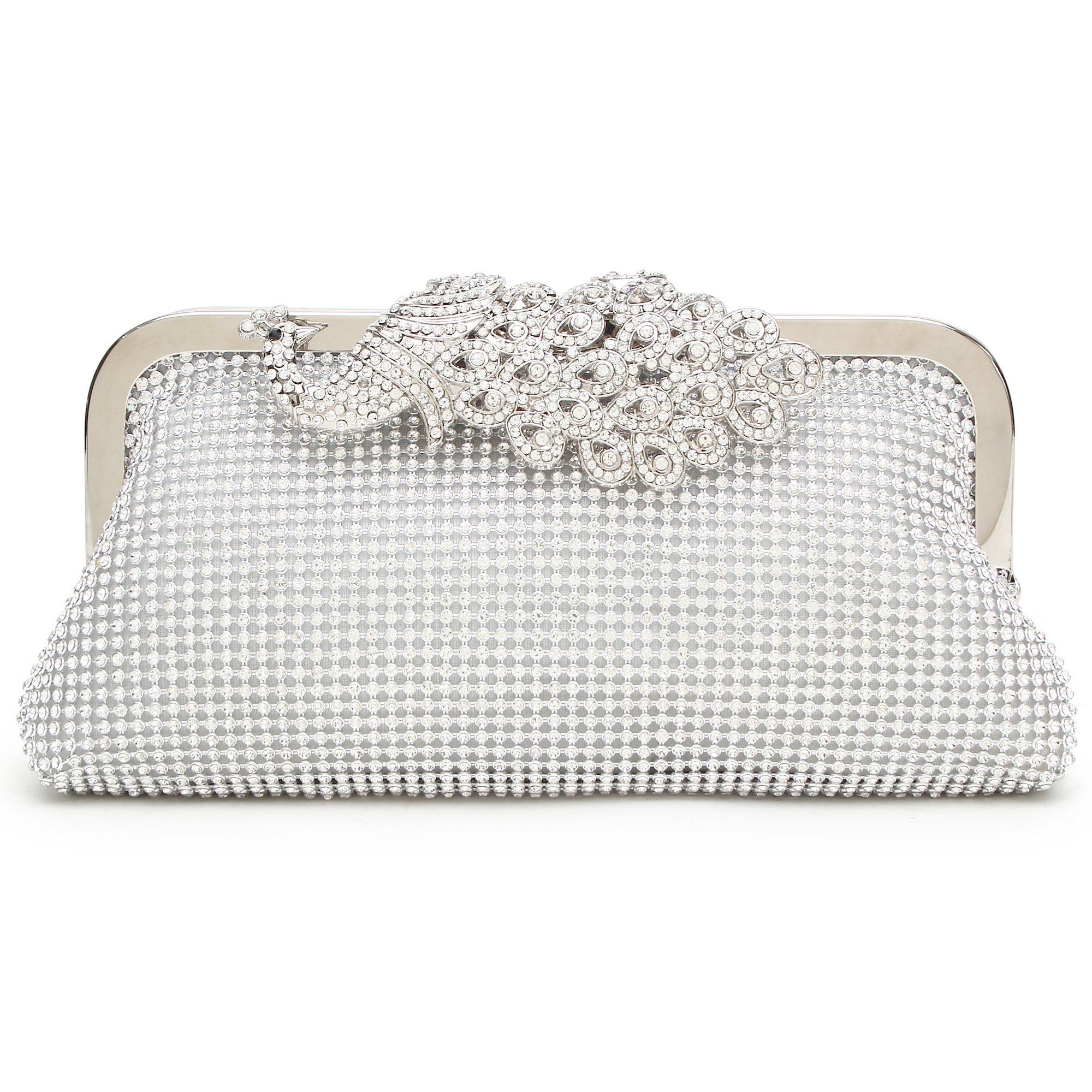 Minicastle Womens Evening Clutch Bag Wedding Purse Bridal Prom Handbag Cocktail Party Bag