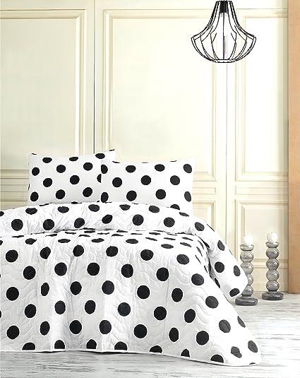 Amazon Com Decomood Polka Dot Bedding Full Queen Size Bedspread