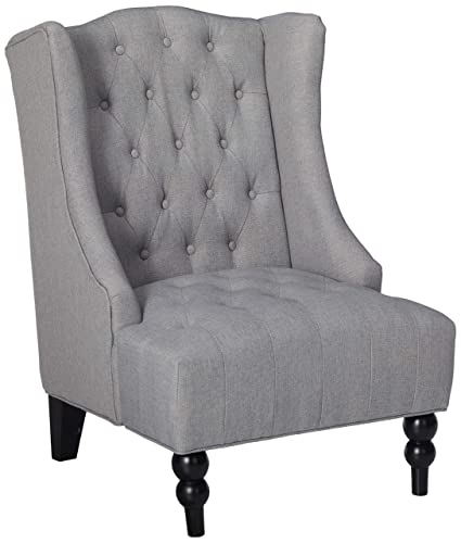 Great Deal Furniture Clarice | Tall Wingback Tufted Fabric Accent Chair |  Perfect Living Room |