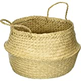 DUFMOD Natural and Plush Seagrass Basket (Natural Seagrass, Large)