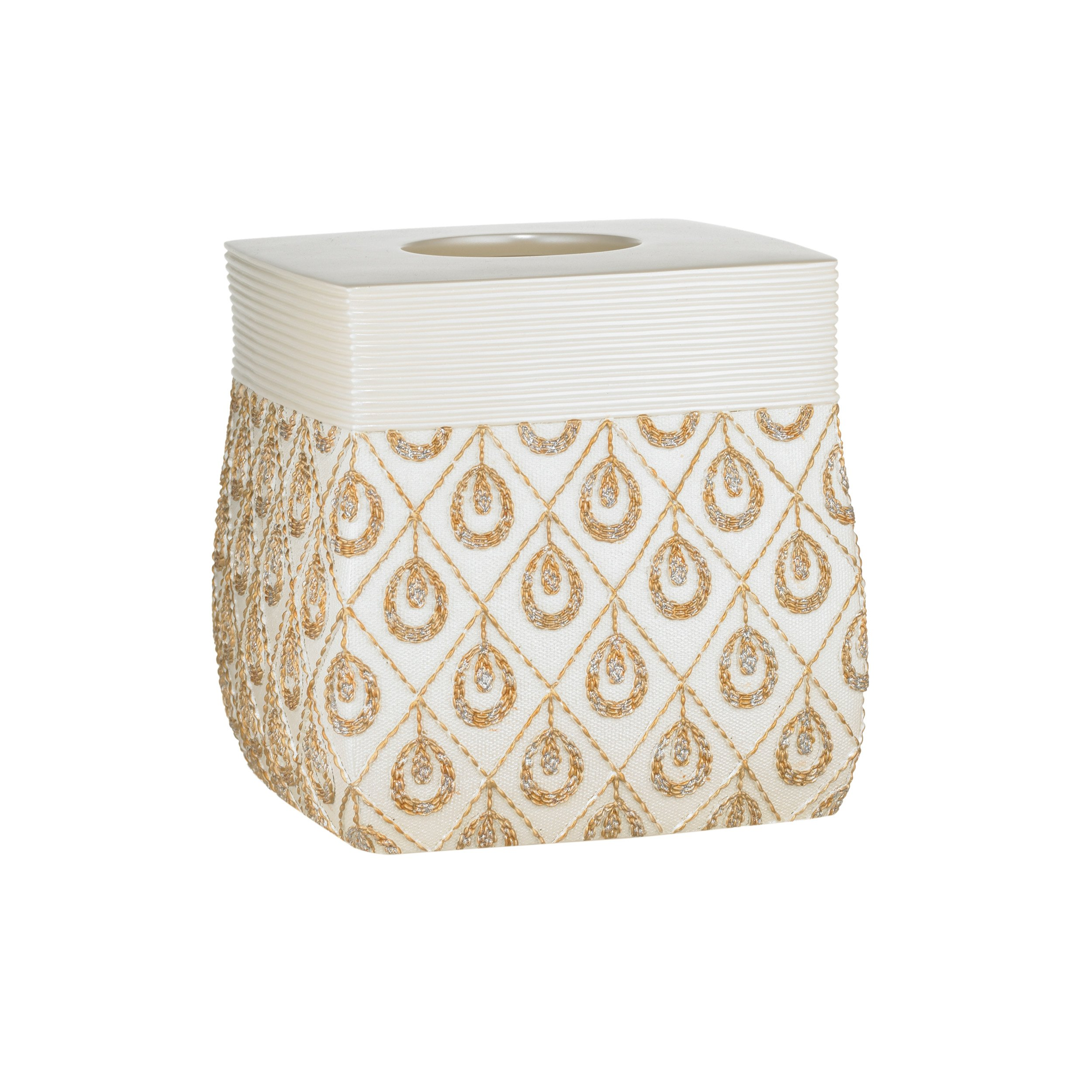 Popular Bath 843958 Seraphina Tissue Box,Ivory by Popular Bath (Image #1)