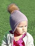Toddler Ear Flap Winter Beanie Hat, Unisex Kids