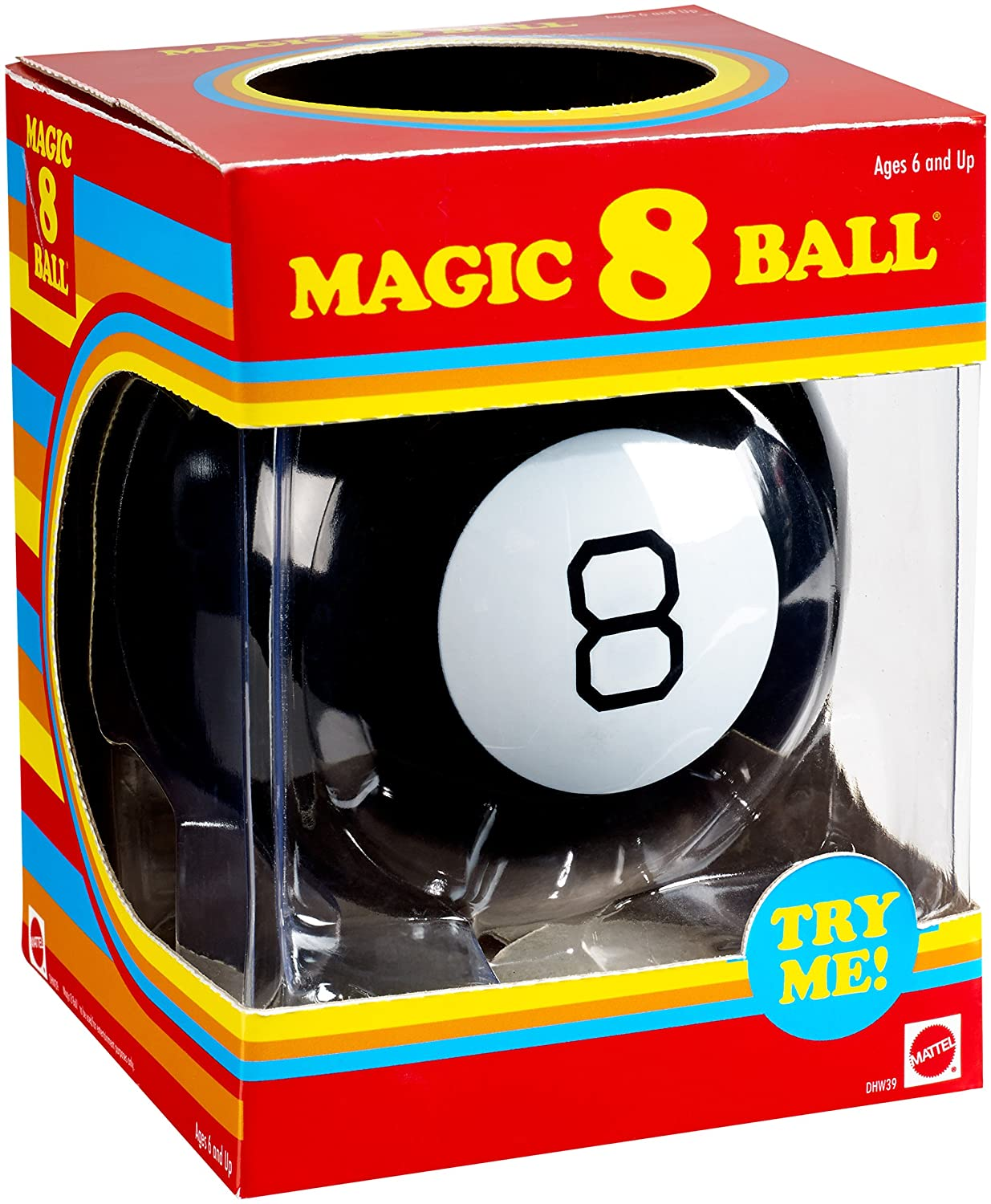 Amazon.com  Mattel Games Magic 8 Ball Retro Edition  Toys   Games 434cb5e5a