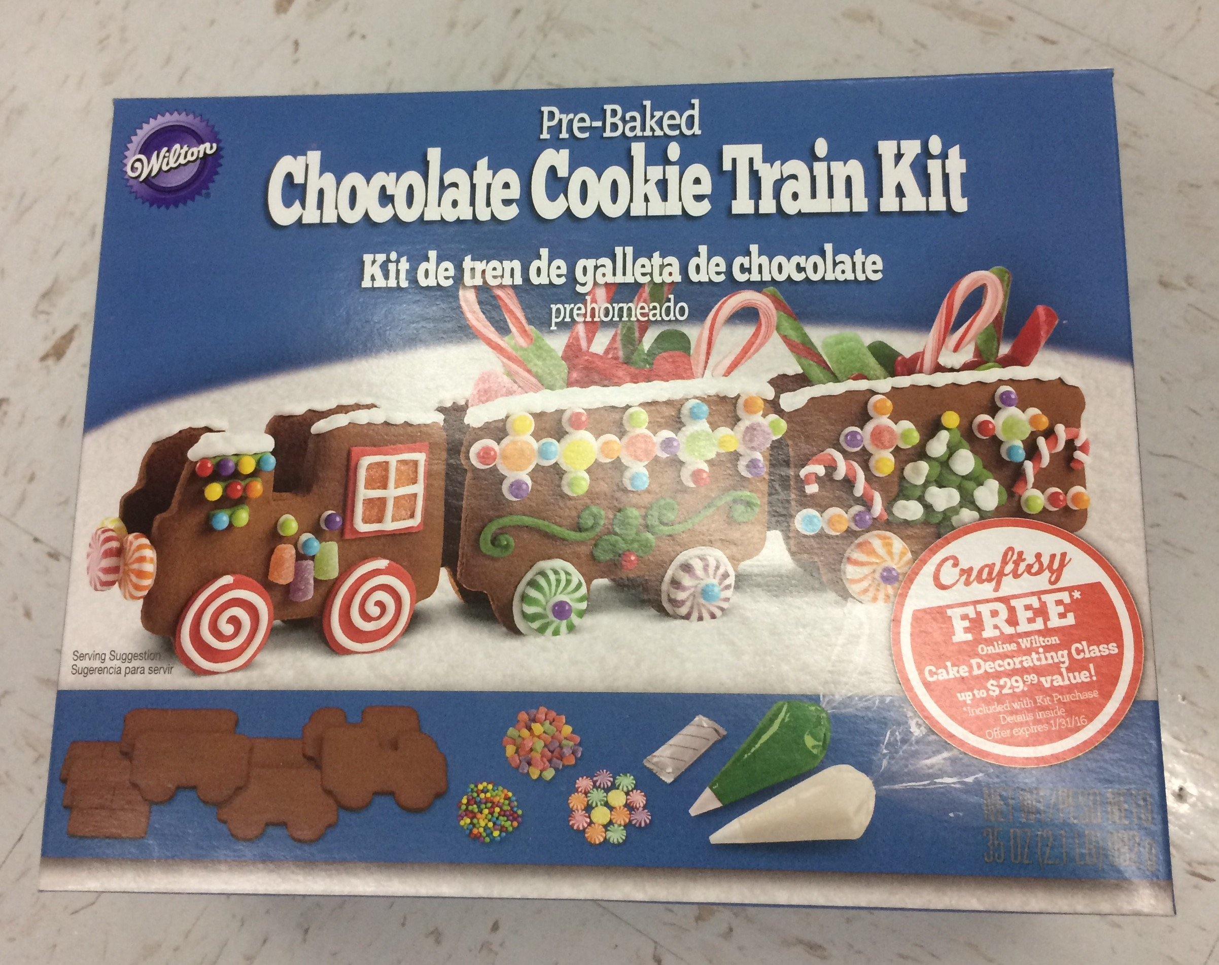 Wilton Pre-Baked Chocolate Cookie Train Kit