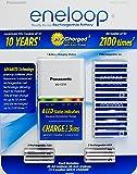 Panasonic Eneloop Rechargeable Batteries 8 AA, 4 AAA, & Quick LED Charger Kit