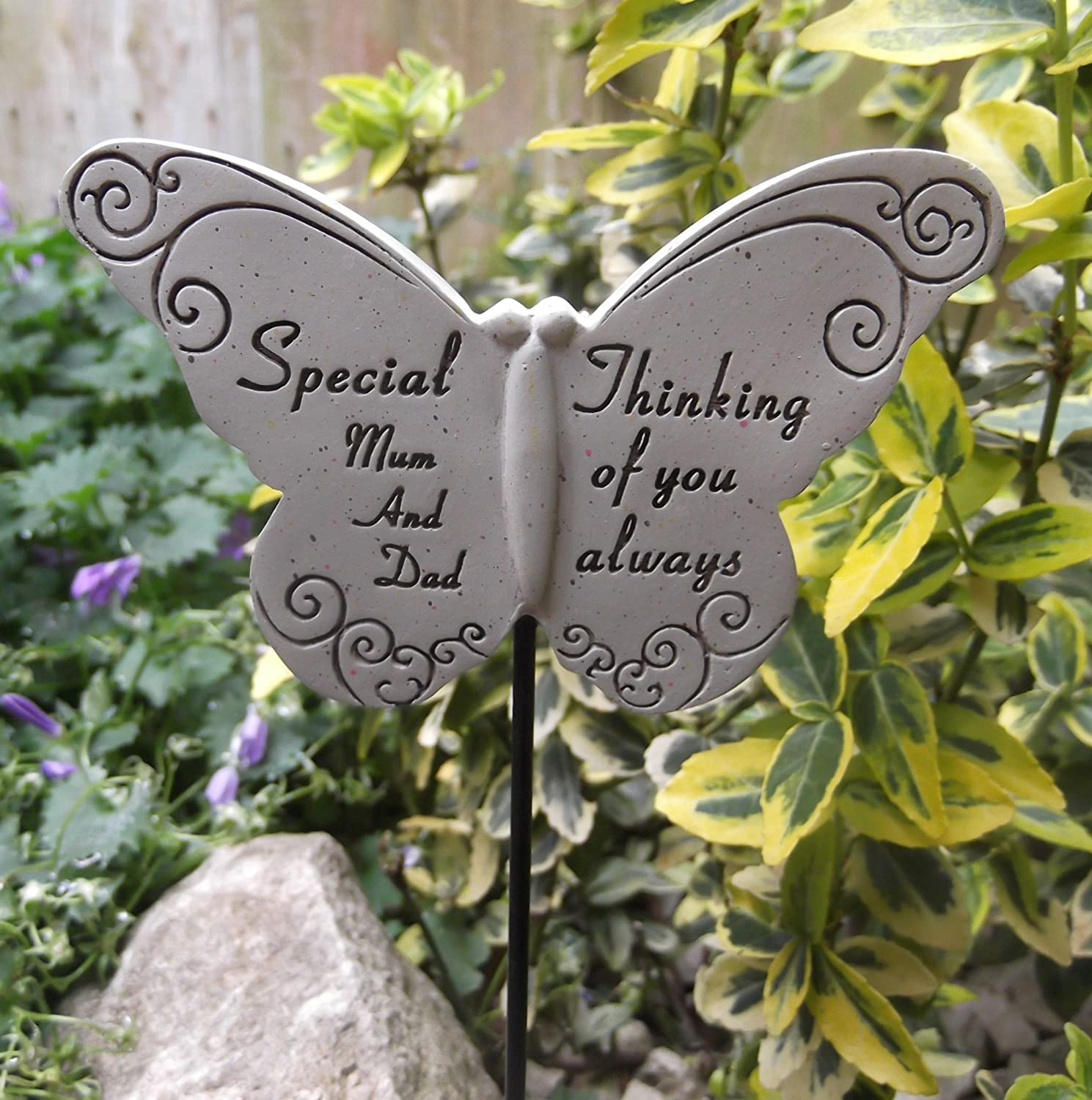 Memorial Butterfly Special Mum and Dad Graveside Ornament