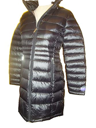 2f866abdb5a Amazon.com: Andrew Marc Womens Featherweight Long Packable Down Jacket  (Black, XS): Clothing