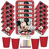 Amazon.com: Mickey Mouse Kit de fiesta de cumpleaños ...