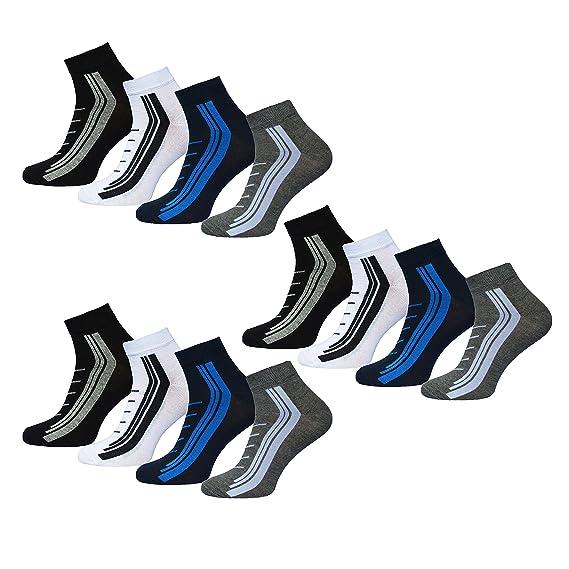 Gutscheincode e29ba 0d9b7 4,8 oder 12 Paar Herren Kurzsocken Quatersocken Socken mit ...