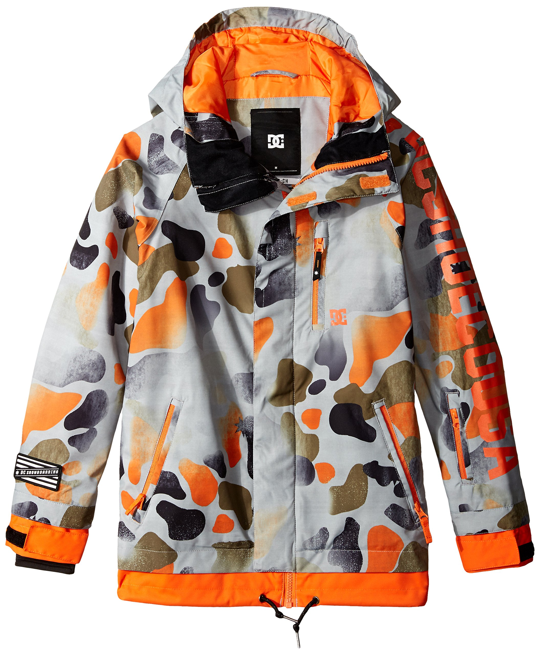 DC Big Boys' Ripley Boy Snow Jacket, Desert Camo Youth, 14/Large by DC Apparel