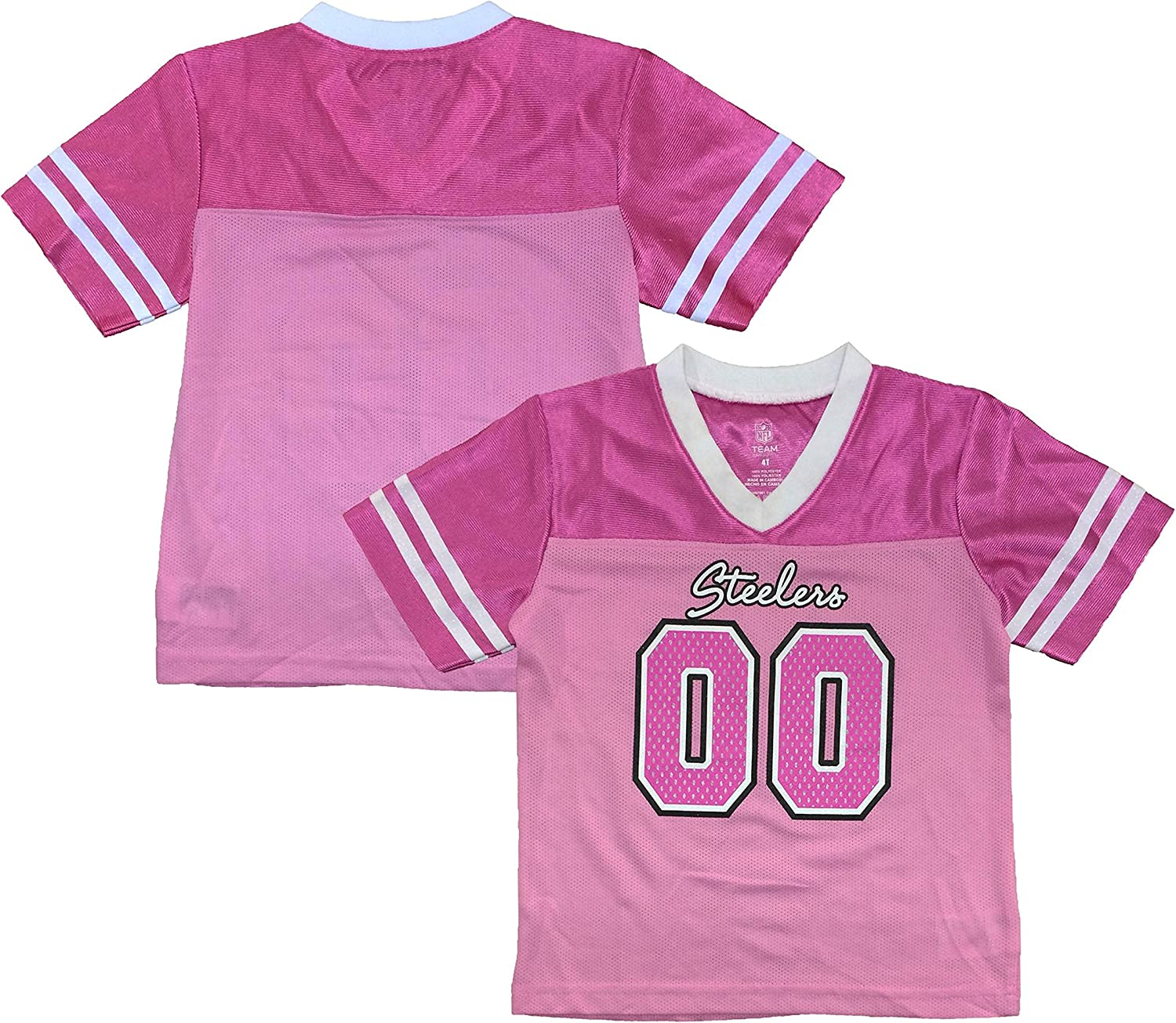girls pink steelers jersey