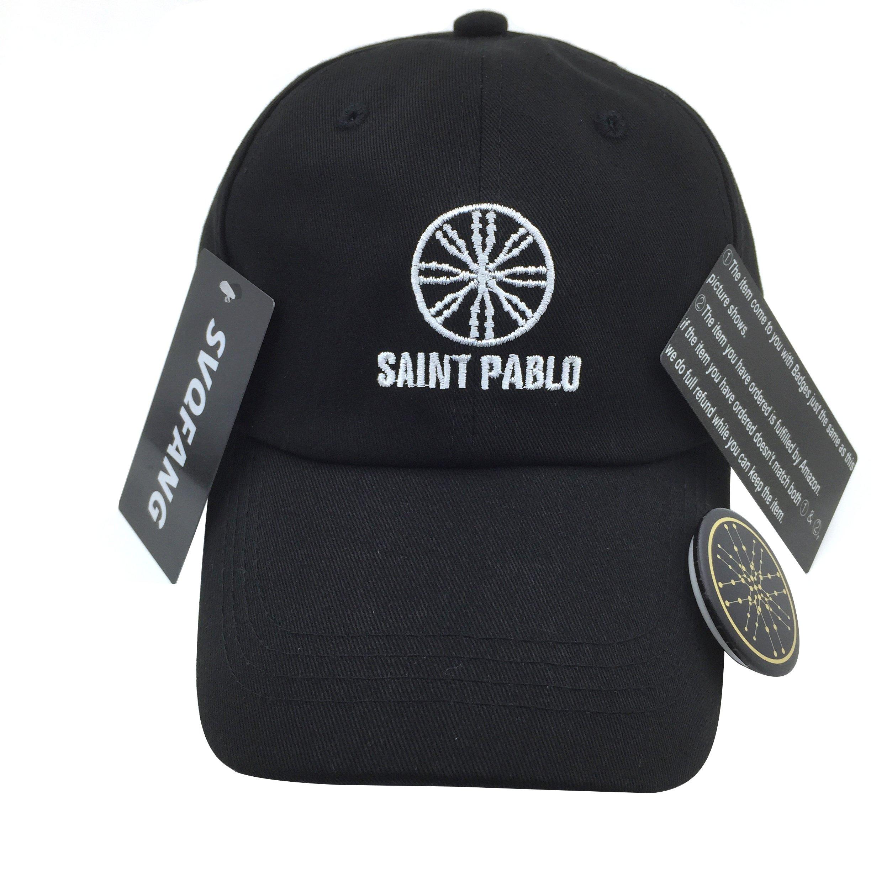 f4276a320ec Kanye West Saint Pablo Tour Hat Merch Dad Cap Black Green (Black Hat  White  Stitch) Apparel