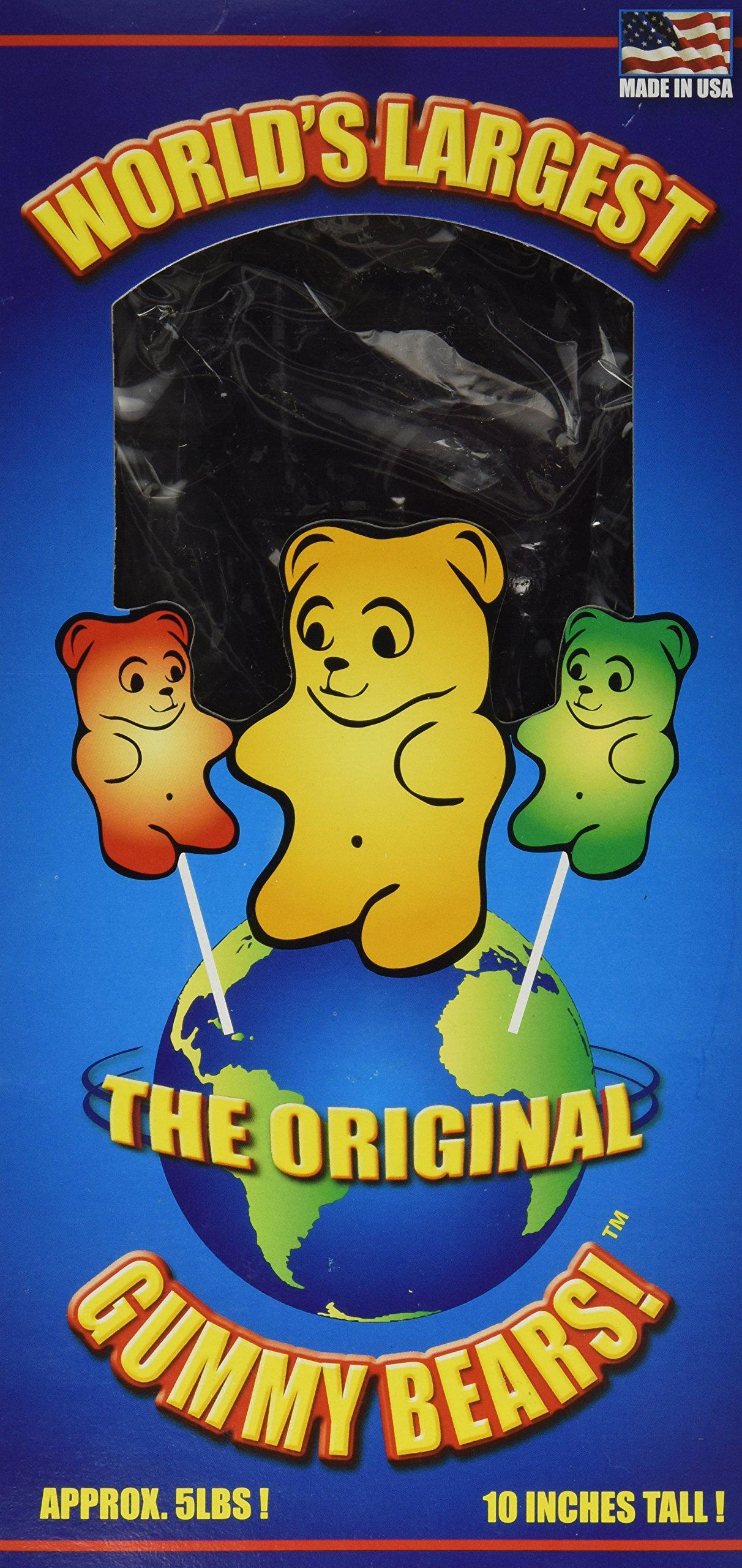 World's Largest Gummy Bear, Approx 5-pounds Giant Gummy Bear - Cherry Cola