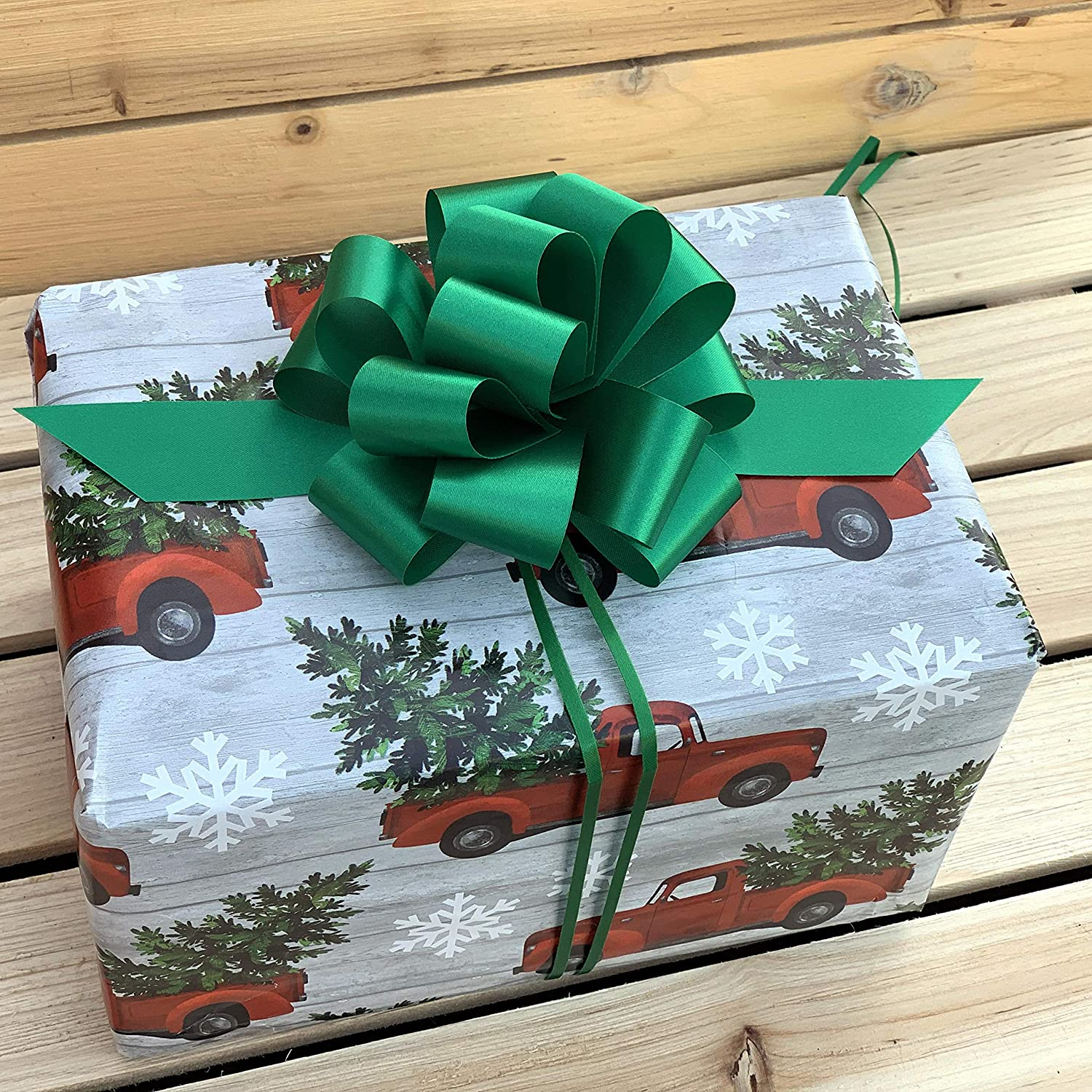 Christmas Pull Bow Kit Pull Bows and Poly Ribbon Gift Wrapping FOLDED 30 or 50mm