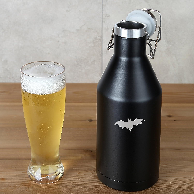 64 Oz Leak Proof Vacuum Sealed Beer Growler Laser Engraved In The Usa Flying Bat Stainless Steel Beer Growler