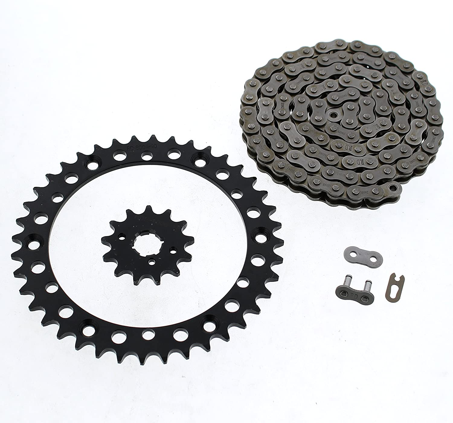 2001-2004 fits Yamaha YFM350 350 Warrior Chain and Black Sprocket 13//40 98L