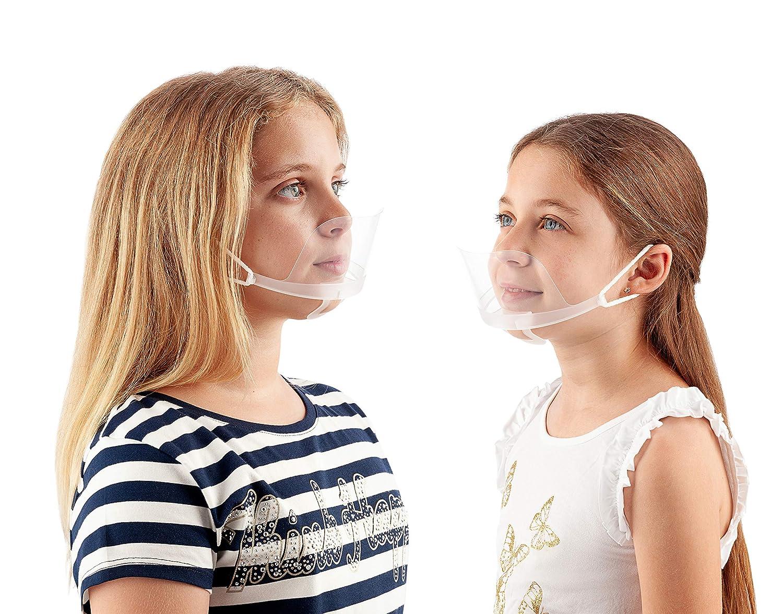 Protector bucal transparente - PACK 10 Unidades - Para hostelería, dentistas, peluqueros.