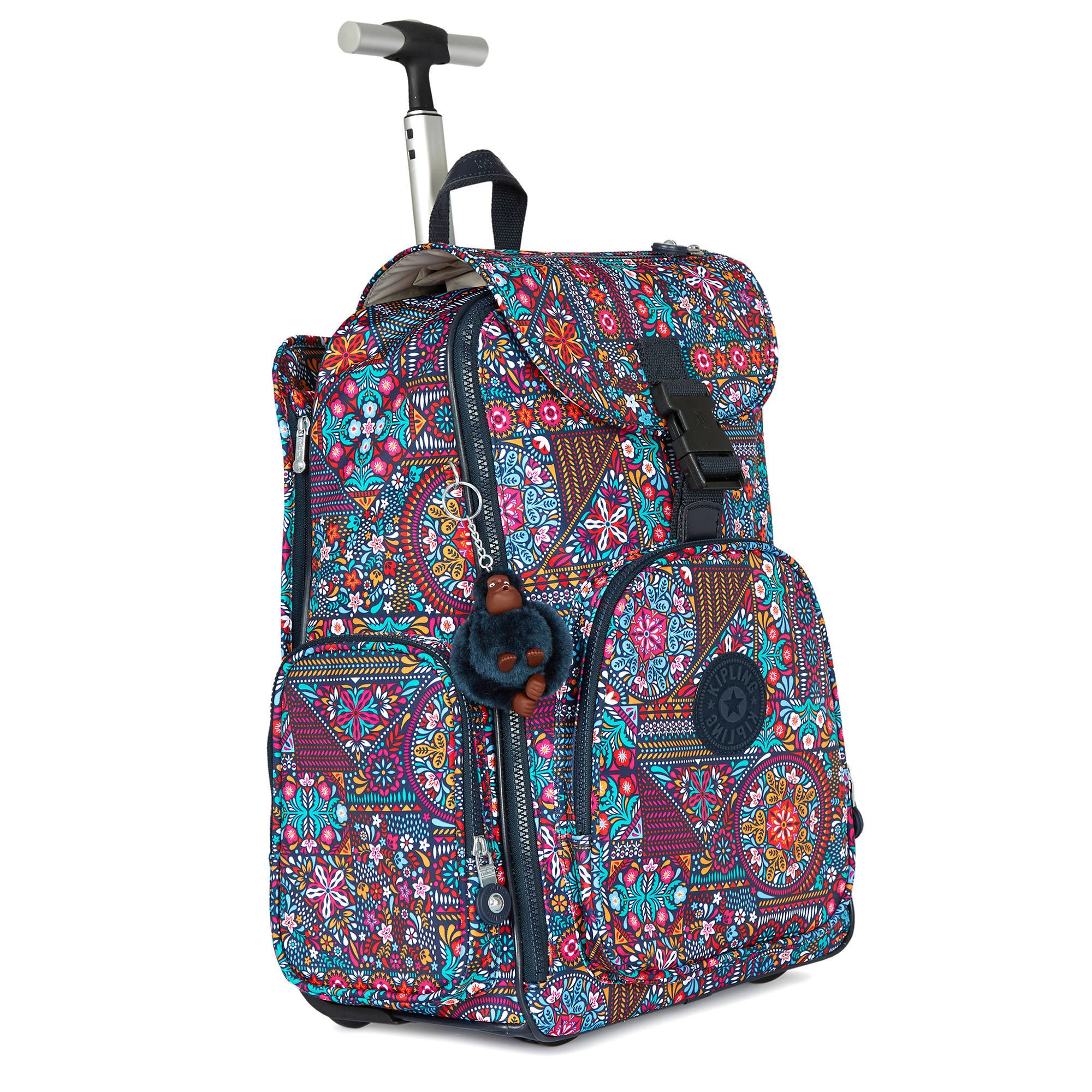Kipling Women's Alcatraz Ii Printed Rolling Laptop Backpack One Size Dizzy Darling Multi by Kipling (Image #1)