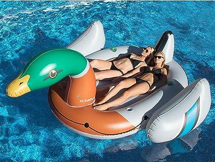 "Swimline 104/"" Giant Unicorn Swimming Pool Inflatable Animal Ride On Float"