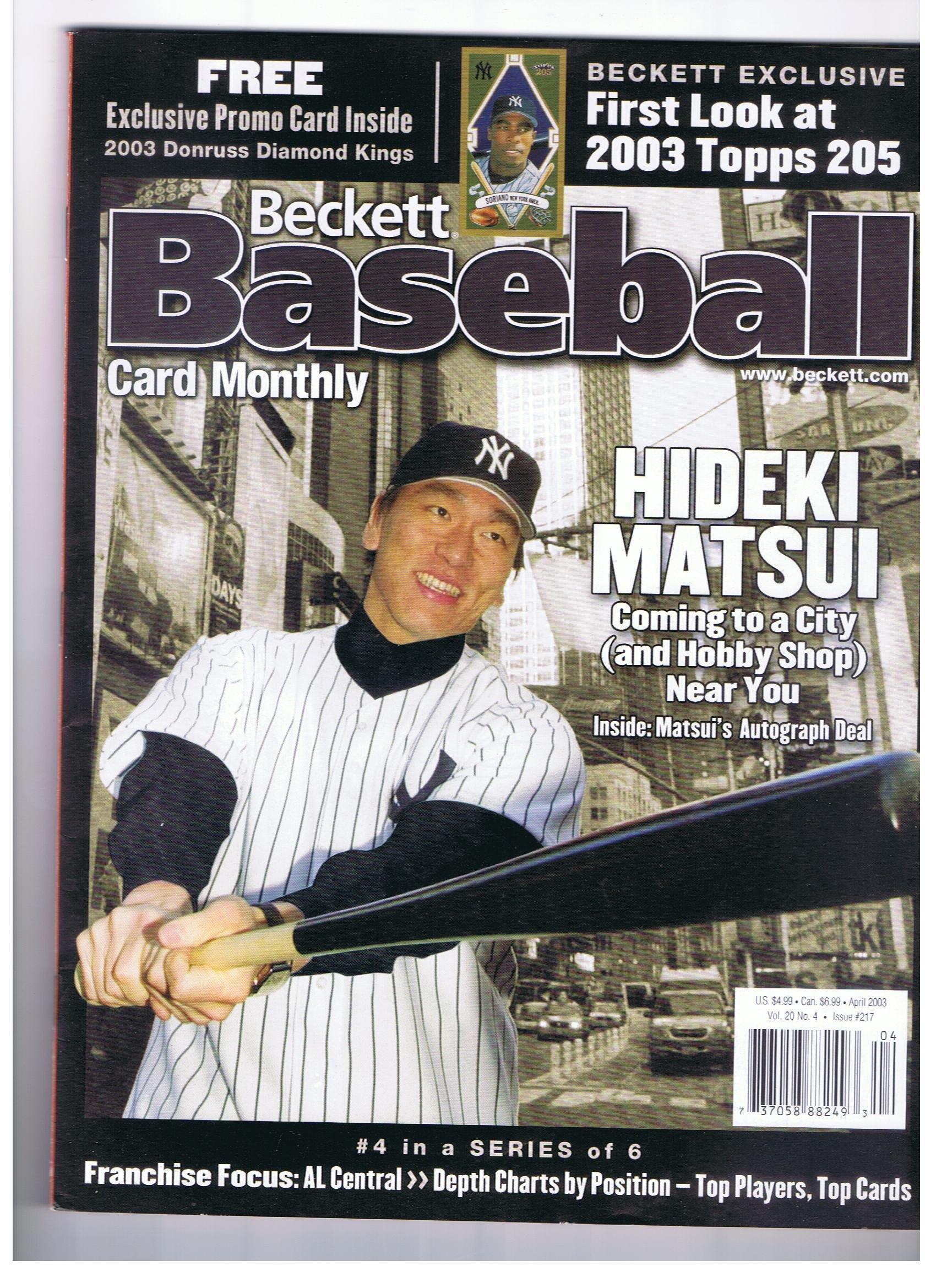 Beckett Baseball Card Monthly 217 - April, 2003 (Volume 20, Number 4) pdf