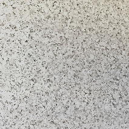 Lot de 100 Dalles de Sol en Vinyle Autoadhésives, Pierre de Granite Grise