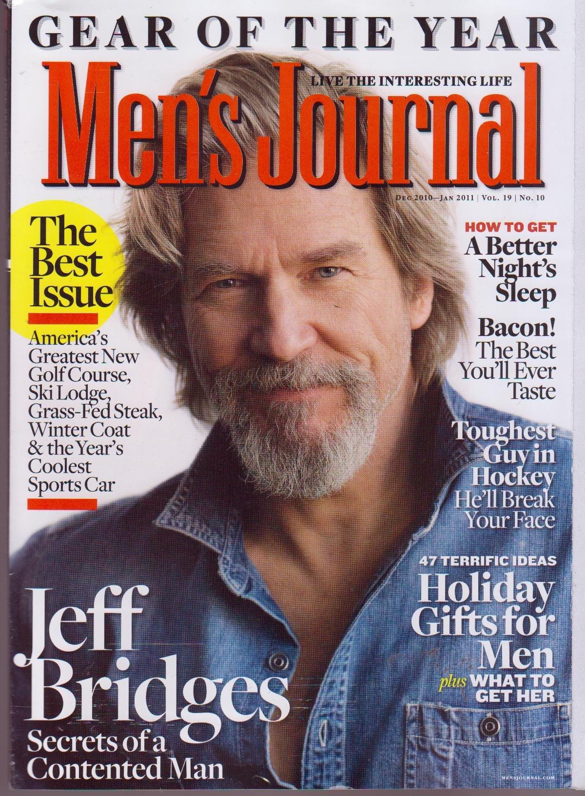MEN'S JOURNAL Magazine (Dec 2010) Jeff Bridges : Secrets of a Contented Man PDF