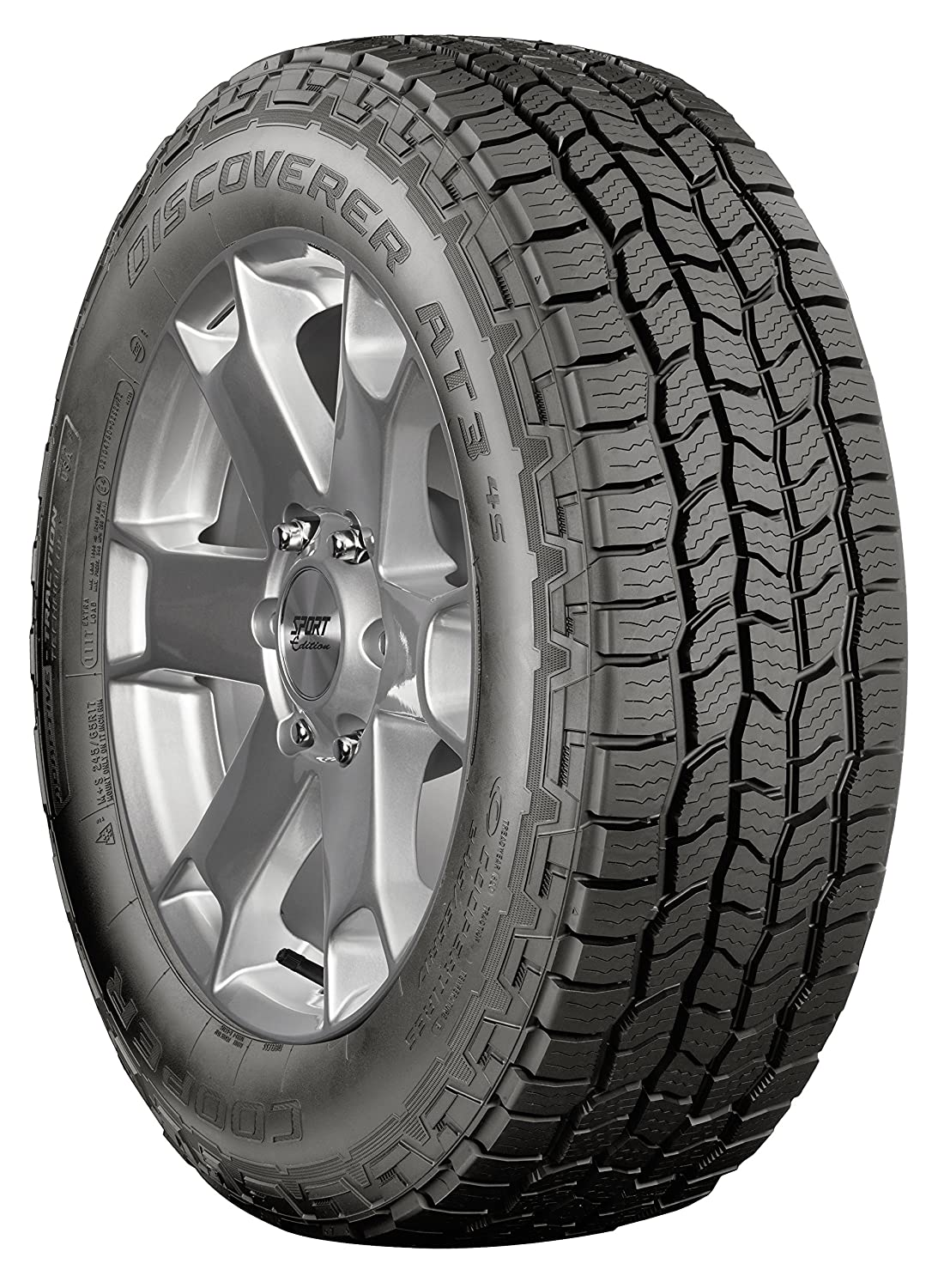 New Cooper Discoverer A/T3 4S All Terrain Tire - 235/65R17XL 235 65 17 108T 90000032688