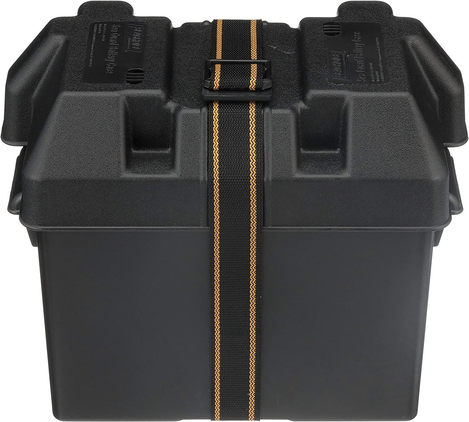 Seachoice 22080 USCG-Approved Marine Group 27 Series Standard Battery Box with Strap & Mounting Kit