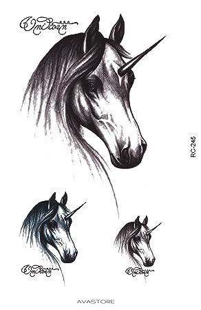 Tatuaje Temporal unicornio – Tatuaje efímero licorne- – Pastilla ...