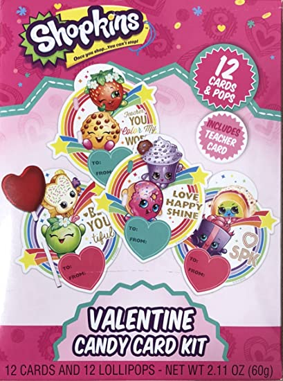 Amazon Com Shopkins Valentine Day Candy Card Kit Office Products