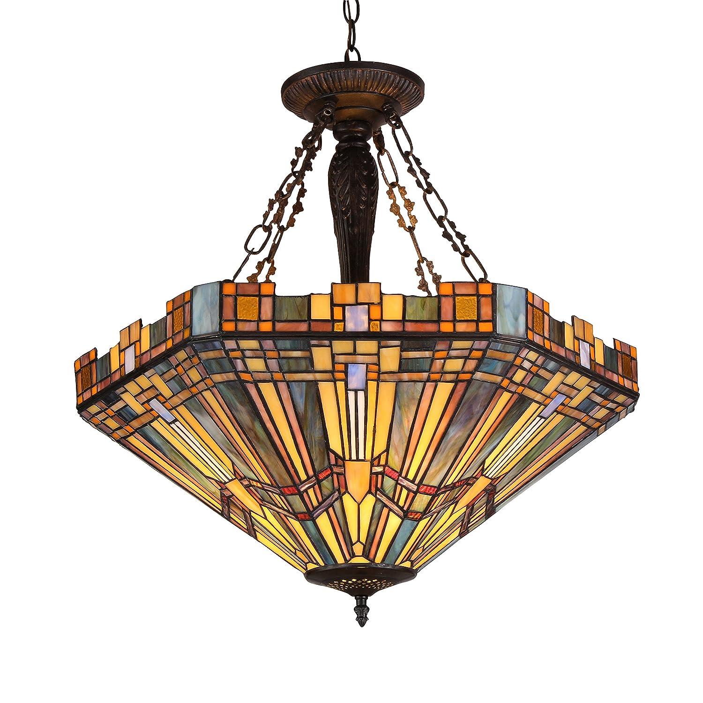 tiffany ceiling lights kingston fan ie two en elegant blades colour