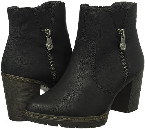 Damen Schuhe Rieker Damen Y9251 Kurzschaft Stiefel Schwarz