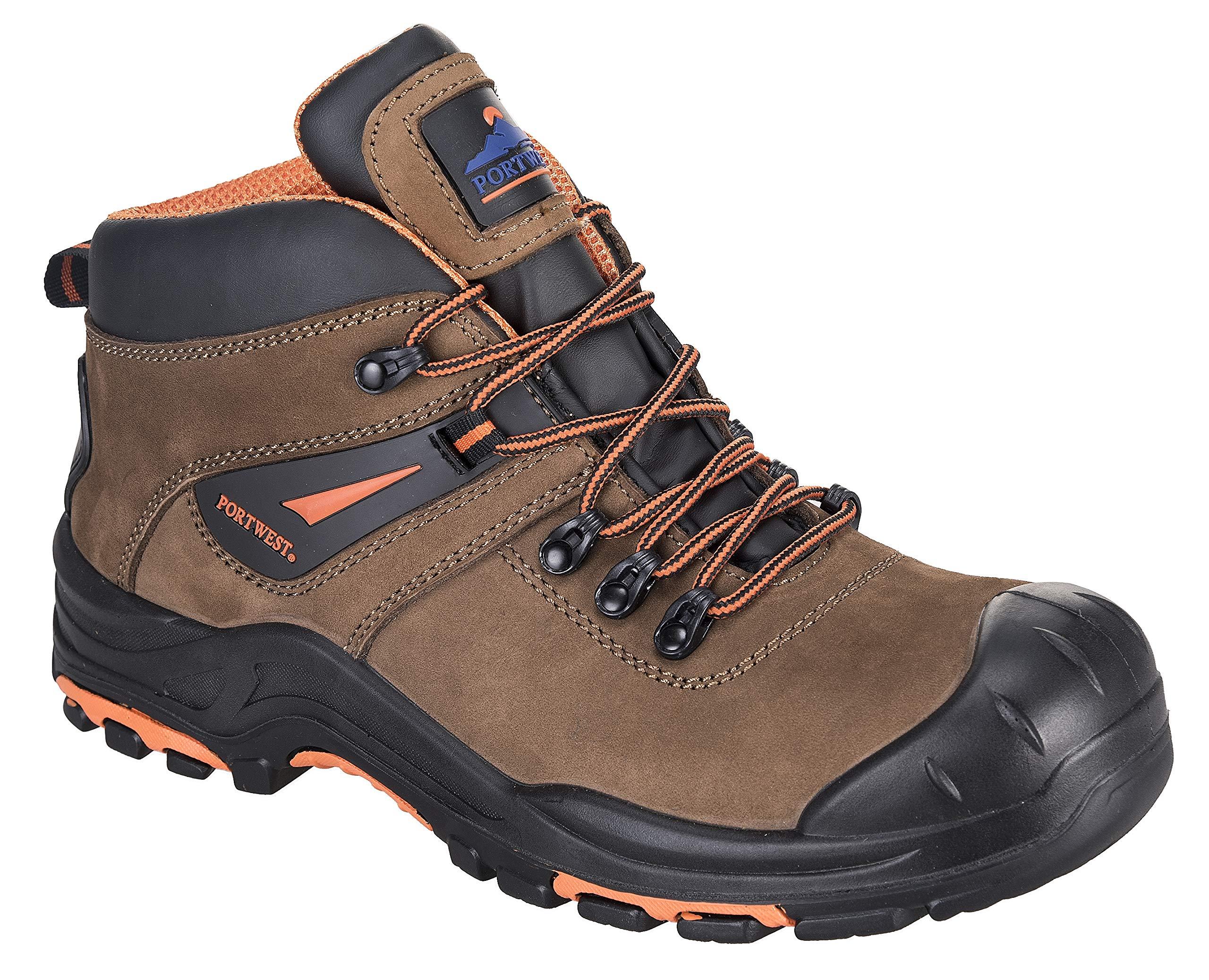 Portwest Montana Hiker Boot HROEH Steel Toe Cap Protective Work Wear Heat Resistant, 7.5