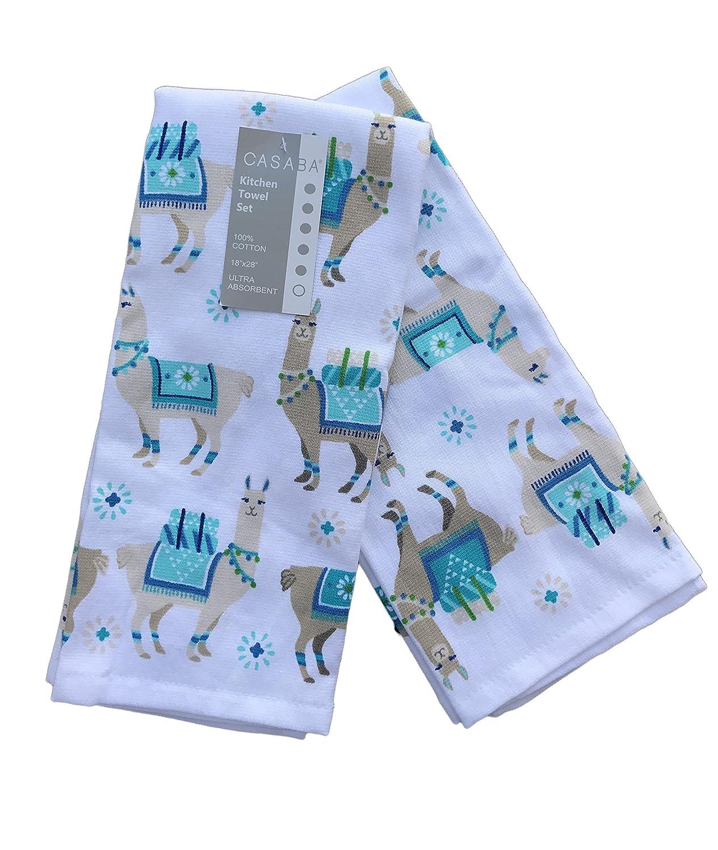 Amazon.com: Casaba Llama Theme Kitchen Towels: Home & Kitchen