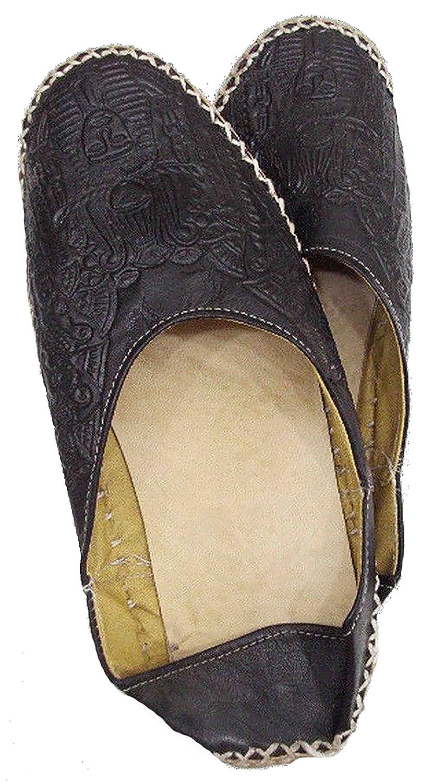 Camel Leather Slipper Shoes Sandal Flats Handemade Pharaoh TUT 438 B01HS58TAW EU 40 = US 7.5 = UK 6.5 = 28 CM|Black