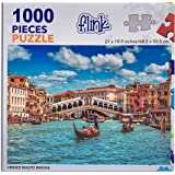 Rialto by Night 1000 Piece Jigsaw Puzzle Puzzle Italy 1000 Difficult Puzzle for Adults Landscape Jigsaw Puzzles Europe Puzzle Puzzles for Adults