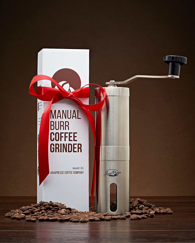 JavaPresse Coffee Company Manual de molinillo de caf/é acero inoxidable c/ónico Burr Mill