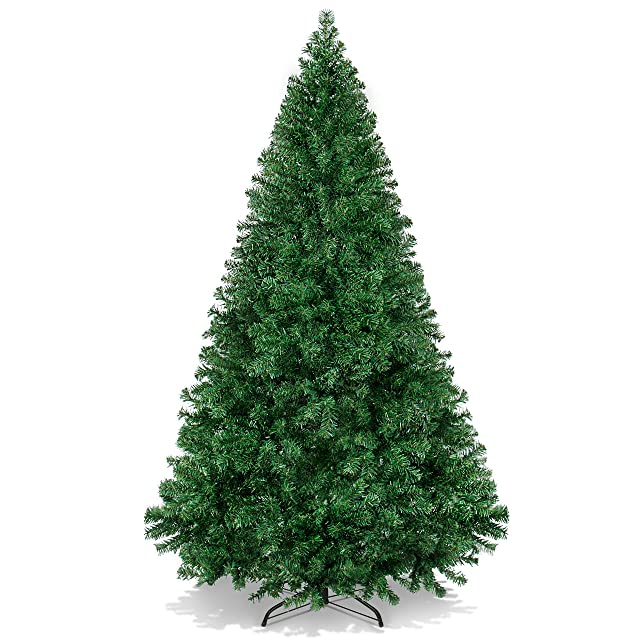 Best Choice Products Hinged Artificial Christmas pine tree