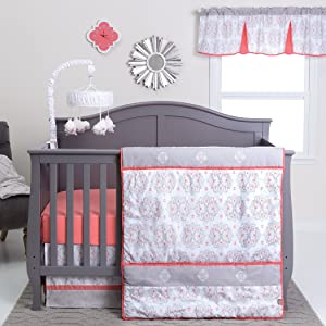 Trend Lab Valencia 3 Piece Crib Bedding Set, Coral