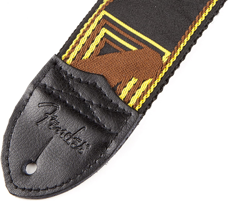 Yellow Fender Guitar Strap Monogrammed 2/'/' Black Brown