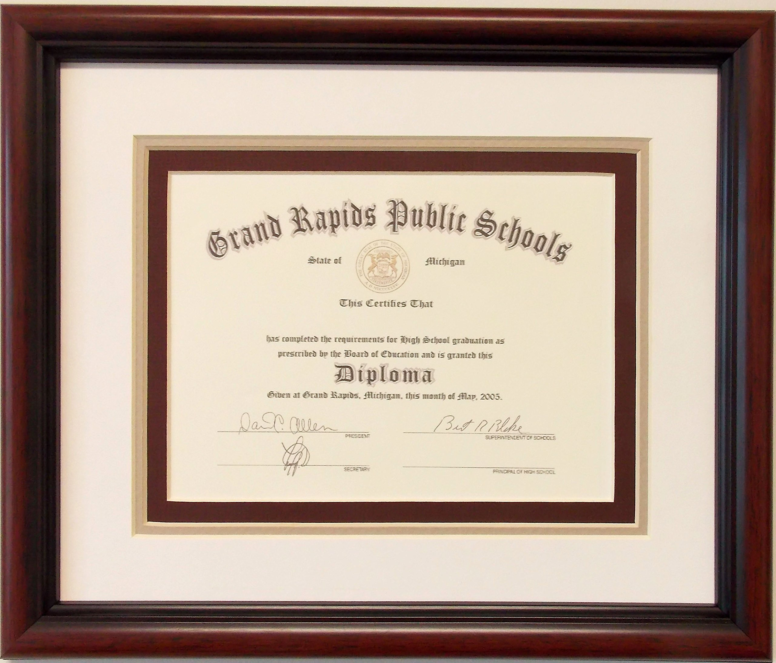 Graduation High School Diploma 6 X 8 Certificate by Photo Frame Ready (Image #1)