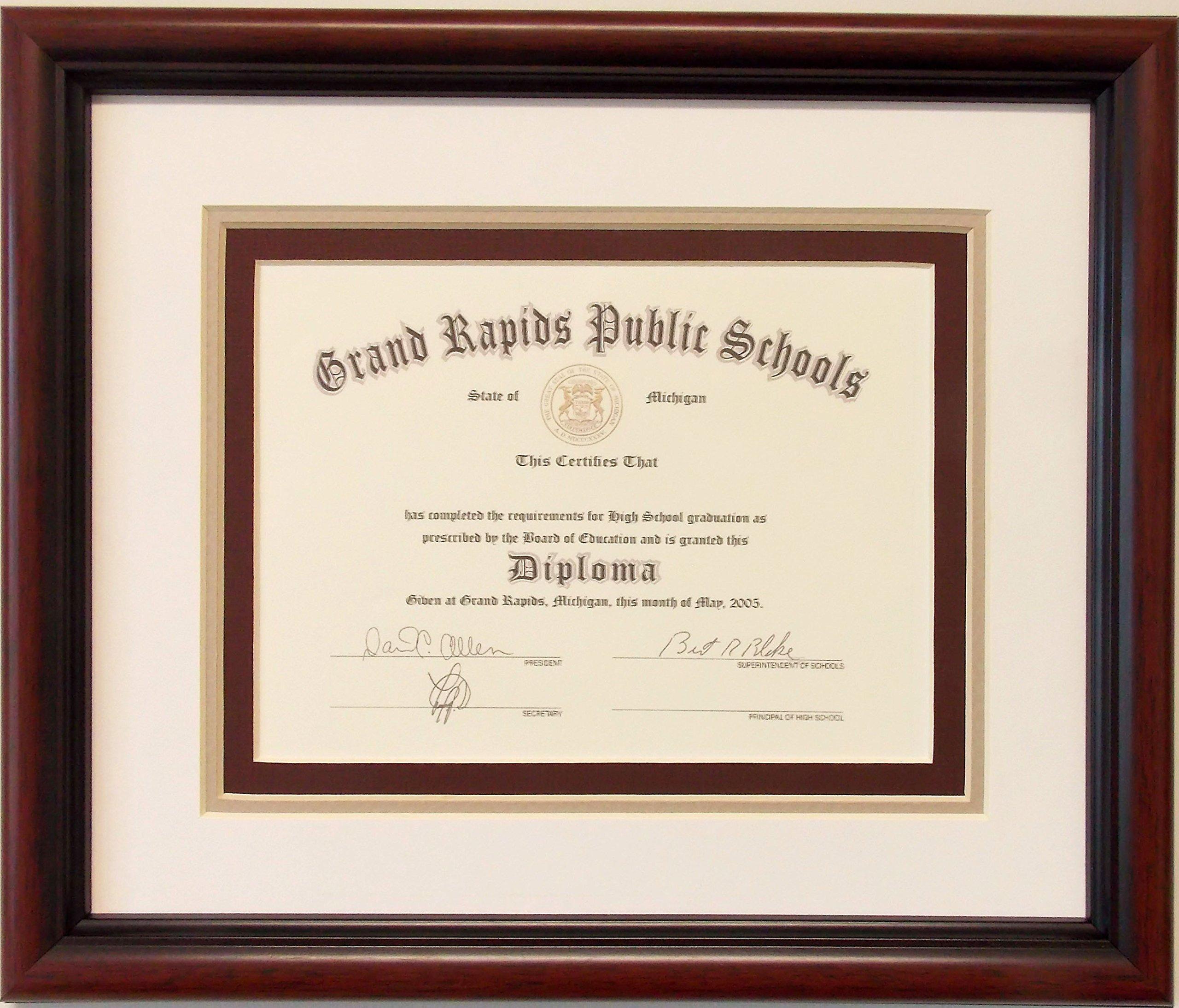 Graduation High School Diploma 6 X 8 Certificate