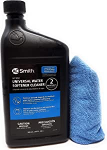 AO Smith Universal Water Softener Cleaner and Tesadorz Microfiber Towel