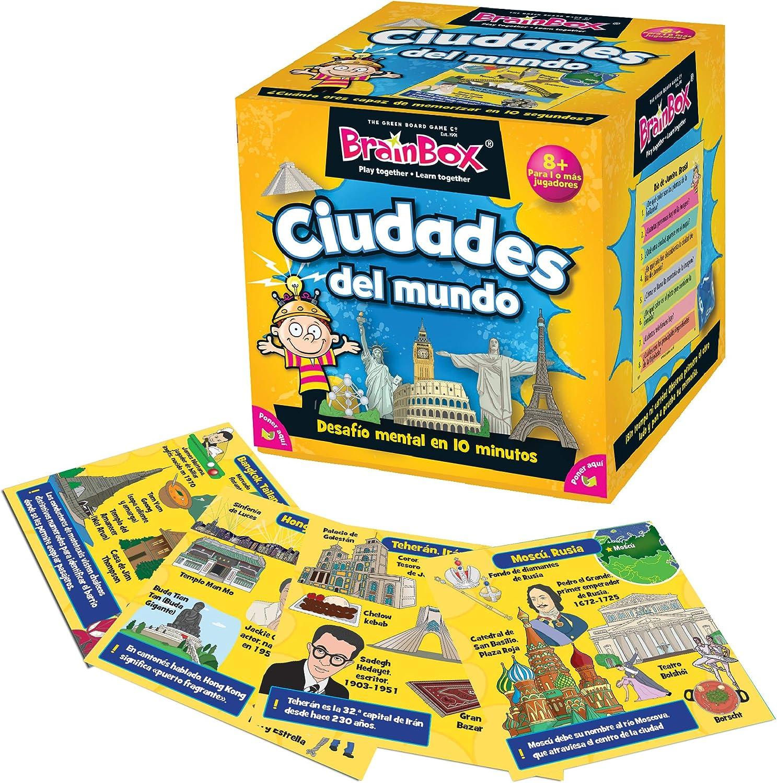 Brain Box- Juego de Memoria Las Ciudades Español, Multicolor (BrainBox 31693444)