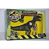JURASSIC PARK - THE LOST WORLD - YOUNG TYRANNOSAURUS REX w/ Dino Tracker figure & accessories!