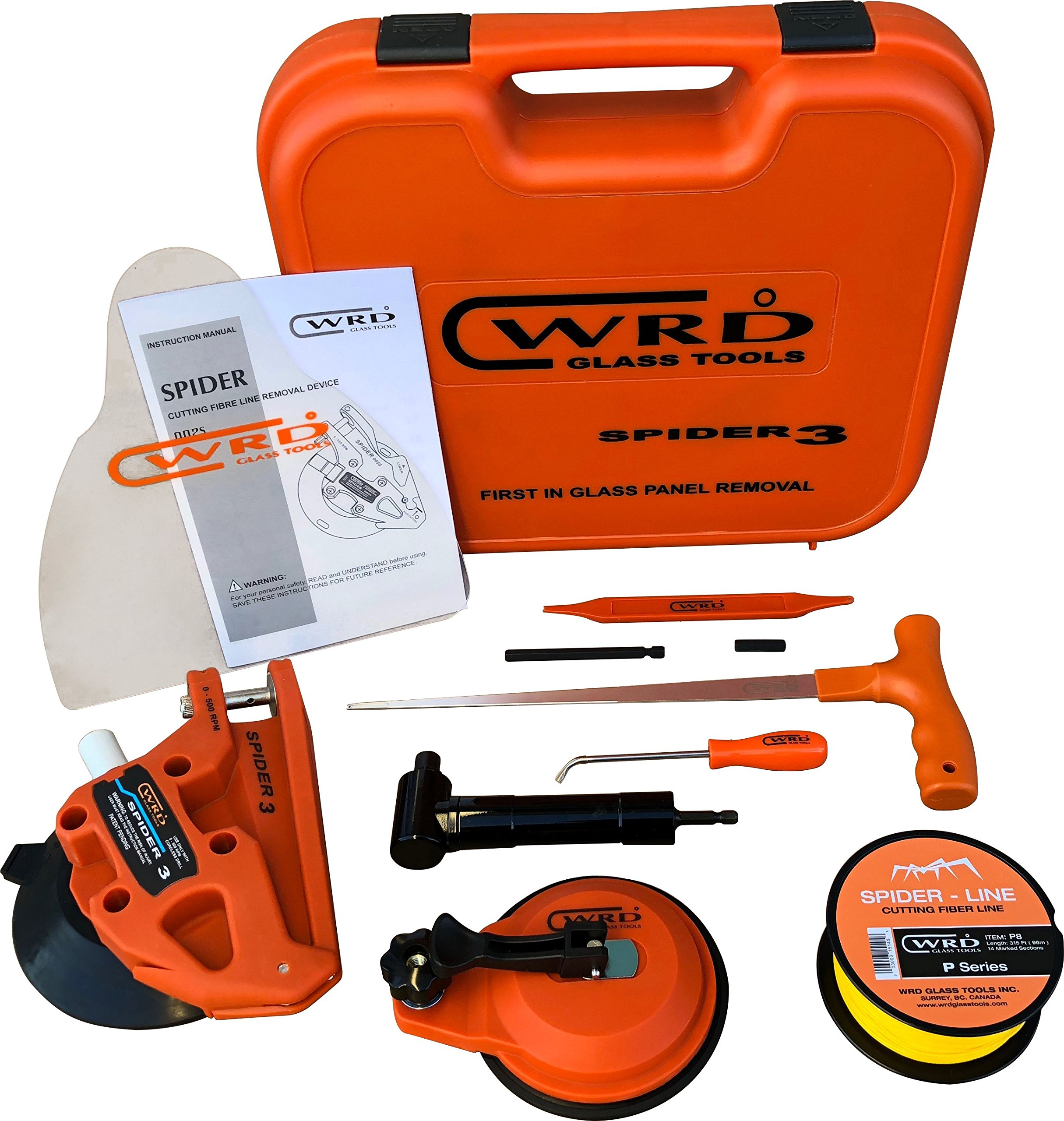 WRD Spider 3 Kit 300W Auto Glass Removal Tool Kit