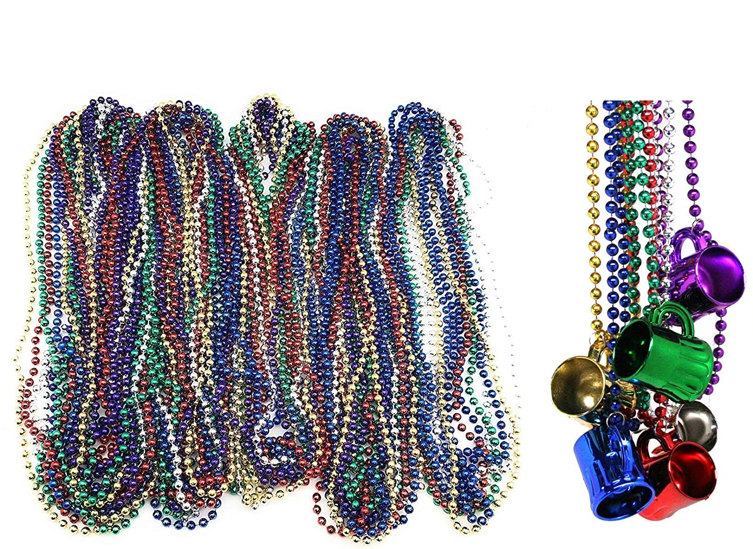 10 MARDI GRAS BEADS NECKLACES MOTORCYCLE BIKE RALLY THROW BEAD BIRTHDAY PARTY