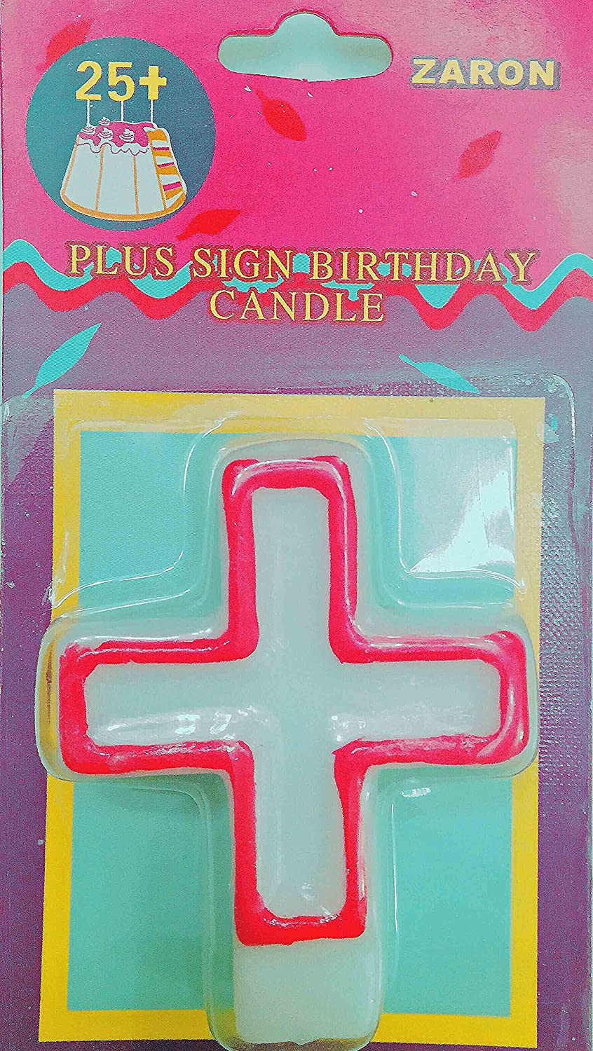 Amazon Plus Sign Birthday Candles Pink Health Personal Care