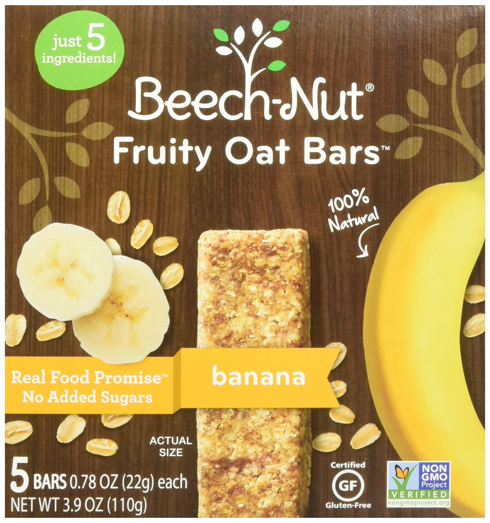 Beech-Nut Fruity Oat Bars Banana Toddler Snack, 0.78 Ounce (Pack of 6)