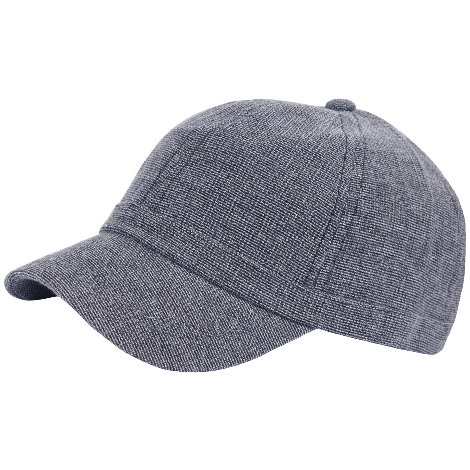 RaOn B382 Ball Cap Plain Empty Summer Cool Short Bill Design Baseball Hat Truckers (Gray)